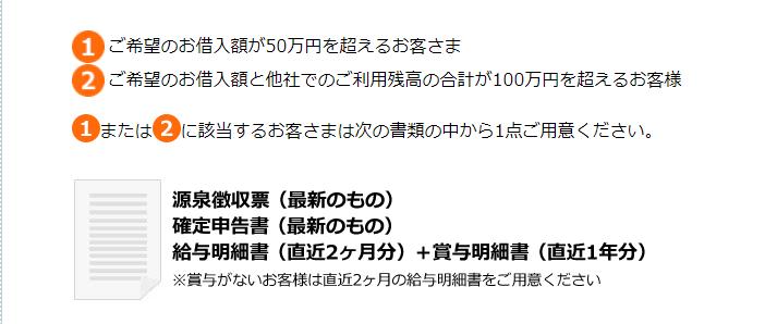 50万円超の追加必要書類